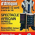 5ème salon instants d'afrique 2014 à beauvallon