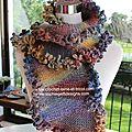 Boutique de noël - echarpe slip stitch et magazines crochet russes