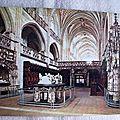 Bourg en Bresse - église de Brou - Choeur avec tombeaux