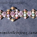 Bracelet pierres naturelles multicolores