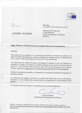 Environnement et Europe technocratique qui bafoue le traite de Lisbonne face au Parlement Européen