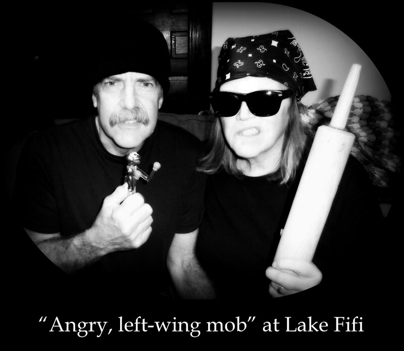 angry left-wing mob