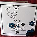 10. gris perle et bleu pétrole - fleurs et papillons