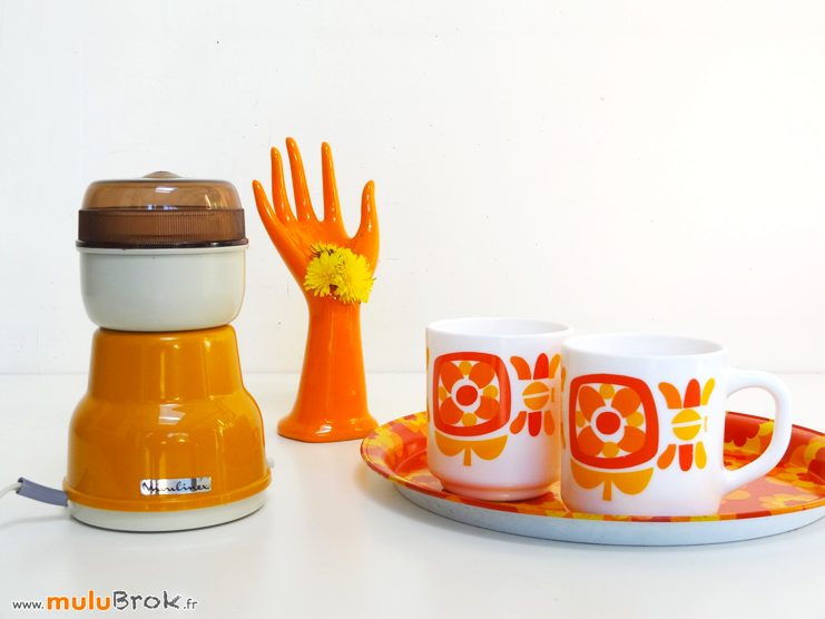 MOULINEX-Moulin-café-Orange-Seventies-muluBrok-Vintage