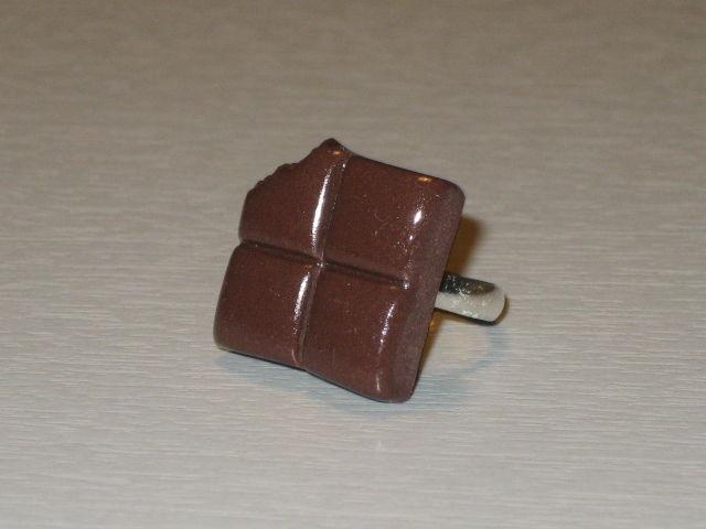 Carrés de chocolat noir - bague