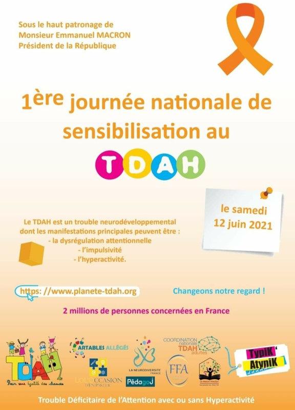 1ère journée nationale de sensibilisation au TDAH le 12 Juin 2021