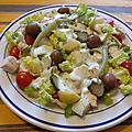 Salade césar revisitée à ma façon andalouse