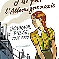 J'ai fui l'allemage nazie journal d'ilse 1938-1939