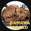 { new york food } banana bread aux pépites de chocolat version #3