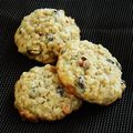 The cookies choco / banane / amande (recette martha stewart)