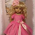 Jolie robe rose velours pour little darling de dianna effner 39 euros frais de port compris en lettre suivie