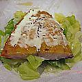 Papillote de chou au haddock, crème aillée