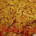 Riz sauté aux légumes et au curcuma