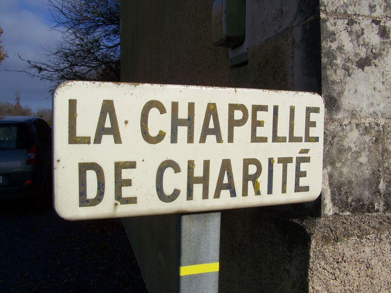 Panneau du lieu-dit Notre-Dame de la Charité