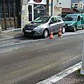 Le stationnement au croisement des rues du chasnot et de belfort