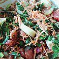 Salade maraîchère épinards pommes de terre