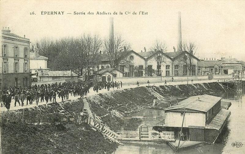 CPA Epernay Ateliers Cie de l'Est