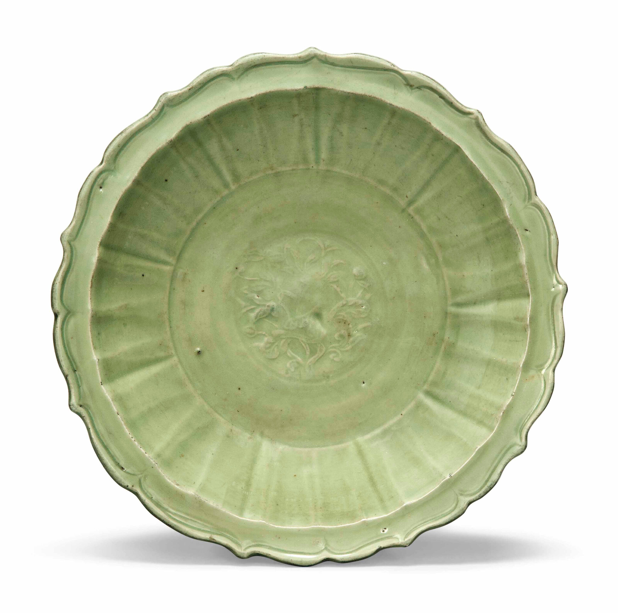A Longquan celadon-glazed charger, Ming dynasty (1368-1644)