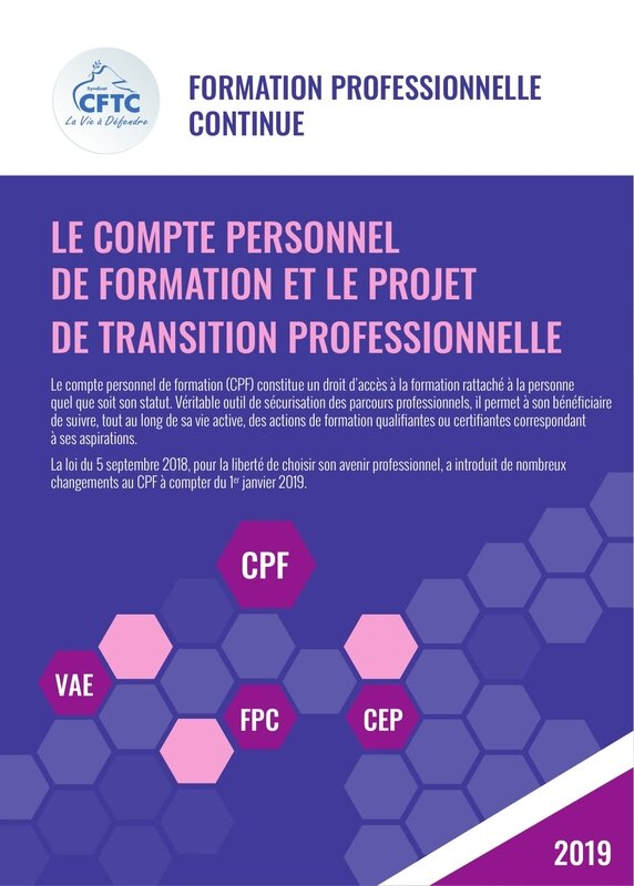 2019 09 - FORMATION PROFESSIONNELLE CONTINUE
