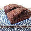 Cake chocolaté son de blé et raisins secs
