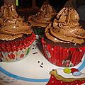 Cupcake topping mousse chocolat