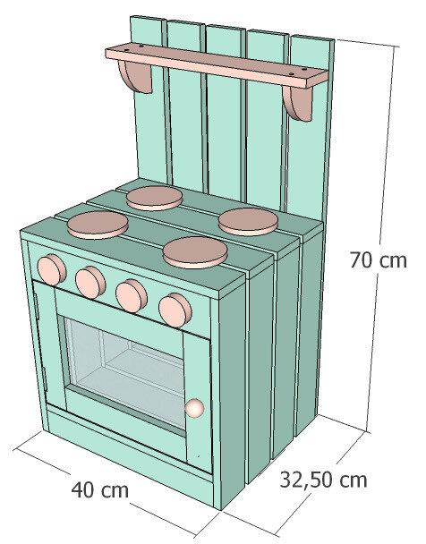 Petite cuisinière pour enfant en planches de palettes