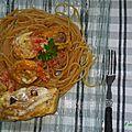 Dos de cabillaud sur nids de spaghetti