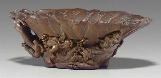 A_rare_carved_rhinoceros_horn_cup__17th_century