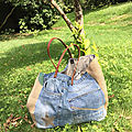 Sac sardine et cie collection jean/jute