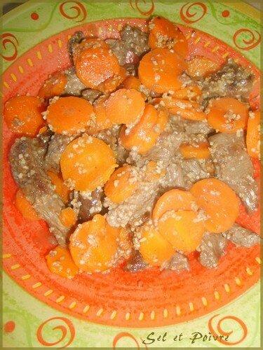 Boeuf aux carottes et piments