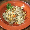 Tajine de tripes aux pois chiches