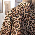 Veste VICTORINE en toile de coton imprimé léopard - Doublure de satin noire (16)