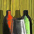trois vases couleurs