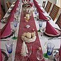 Ma table en rose et gris