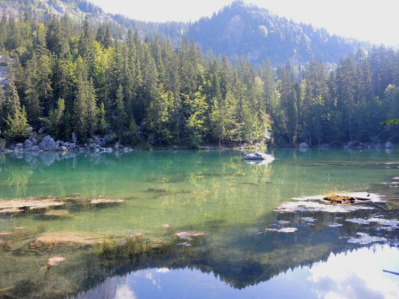 Passy, le lac Vert, vue Est