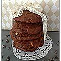 Cookies aux trois chocolats