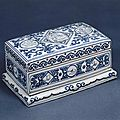 Boîte écritoire à décor stylisé, Marque et Période de Zhengde (1506-1521), Paris, musée Guimet - musée national des Arts asiatiques