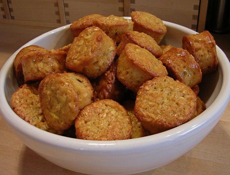 Muffins de flocons d'avoines aux pommes