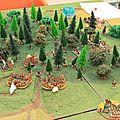 0930 les bataillons de Von Imhoff entrent dans la foret