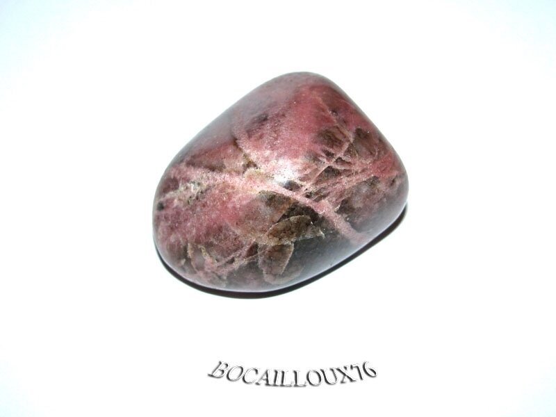 RHODONITE Roulée 3 - LITHOTHERAPIE - Pierre de Soin et DECORATION