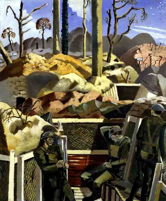 Paul Nash Spring in trenches Ridge Wood 1917