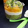 Verrines aux kiwi et orange