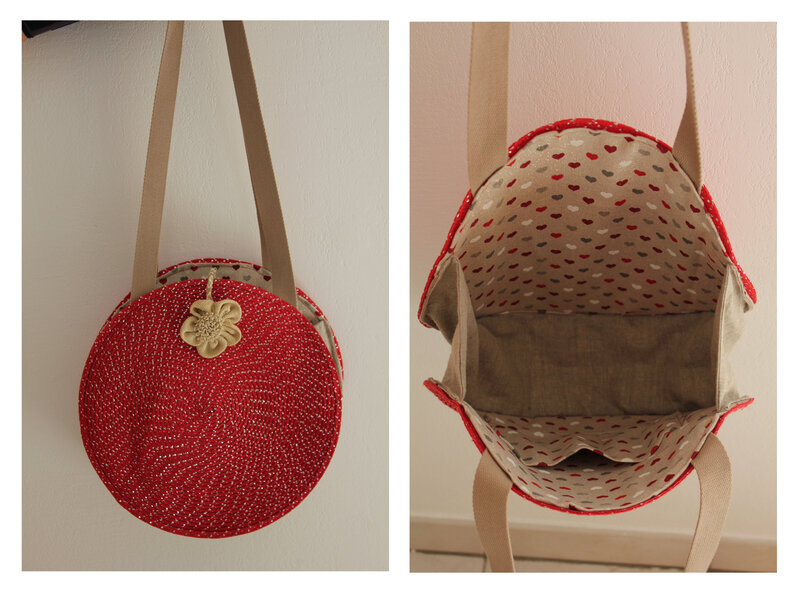Sac rond rouge