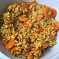 Blé et carottes aux épices au cookeo