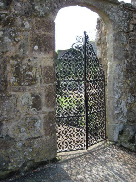 Carisbrook Castle (Isle of Wight) - L'entrée du jardin