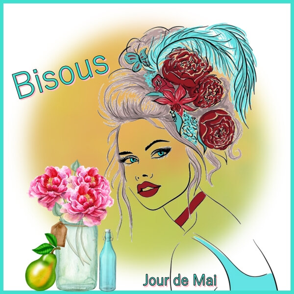 Bisous turquoise