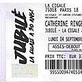 Catherine ringer + sparks - lundi 4 septembre 2017 - la cigale (paris)