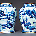 Blue and white porcelain, kangxi period (1662-1722) from the tibor collection sold at christie's new york, 23 january 2020