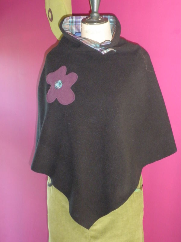 Poncho en polaire/ Purplely