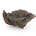 A rhinoceros horn 'lotus leaf' libation cup, 17th-18th centur